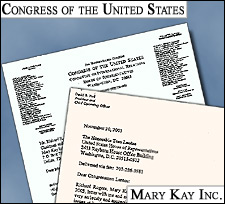 Mary Kay discontinued the use of a pledge that categorizes Falun Gong as 'illegal' three days after receiving a stern letter from Members of Congress.