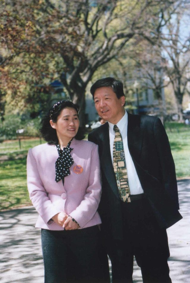 Shenli Lin with his wife Jinyu in Montreal, Canada