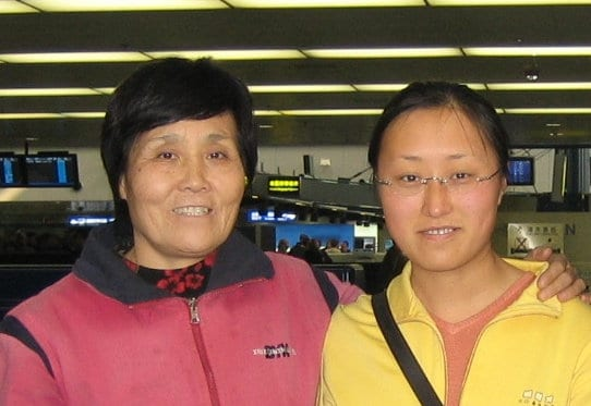 Ms. Zhu Lijin (left), a 61-year-old mother of New Zealand citizen Salina Wang (right), was sentenced without trial in Tianjin and is at risk of torture.