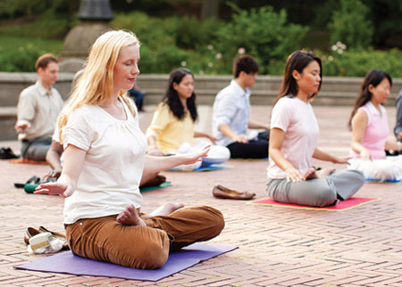 Falun Gong's sitting meditation in New York's Central Park
