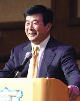 Mr. Li Hongzhi, founder of Falun Gong, speaks at a conference in New York