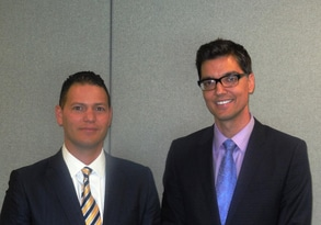Doctors Against Forced Organ Harvesting Spokesman Damon Noto, MD (left) and Deputy Director G. Weldon Gilcrease III, MD (right).