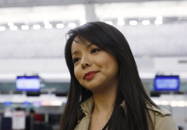 Canada's Miss World contestant Anastasia Lin spoke to the media in November of 2015 at Hong Kong's airport after she was denied entry to mainland China. Kin Cheung/Associated Press/File