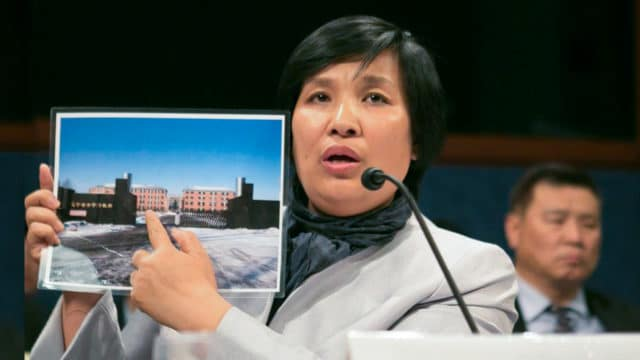 "<b>RECOUNTING THE HORRORS</b>  •  Yin Liping testifies before the Congressional-Executive Commission on China, April 14 2016, on ""China's Pervasive Use of Torture."" Ms. Yin is a Falun Gong practitioner who survived torture, forced labor, and sexual violence in Masanjia and other forced labor camps in China."