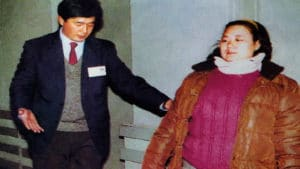 Mr. Li Hongzhi providing qigong treatment to the attendees of Asia Health Expo 1992 in Beijing.