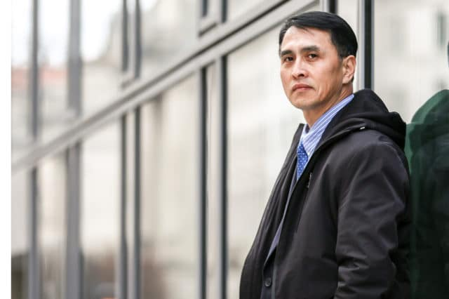 <b>IN THE BUSINESS OF TRUTH</b> Mr. Yu Ming in Washington on Feb. 19, 2019. He arrived in the United States to join his wife and daughter in January 2019 through the help of the U.S. government, after being imprisoned for 12 years and tortured nearly to death in labor camps in China for his belief in Falun Gong.